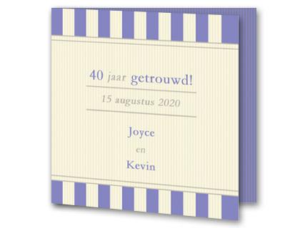 Super Tekst 40 jaar getrouwd voorbeelden - Trouwpost.nl AO-98