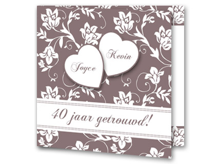 trouwkaarten 40 jarig huwelijk Tekst 40 jaar getrouwd voorbeelden   Trouwpost.nl trouwkaarten 40 jarig huwelijk