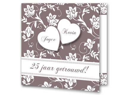 Super Tekst uitnodiging 25 jaar getrouwd - Trouwpost.nl @PR42