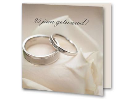 25 jaar getrouwd ringen Tekst uitnodiging 25 jaar getrouwd   Trouwpost.nl 25 jaar getrouwd ringen
