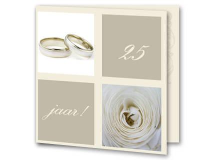 Beroemd Tekst uitnodiging 25 jaar getrouwd - Trouwpost.nl #VG84