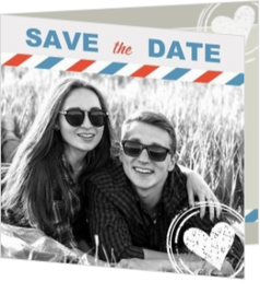 Trouwkaarten met foto - Trouwkaart save the date met eigen foto